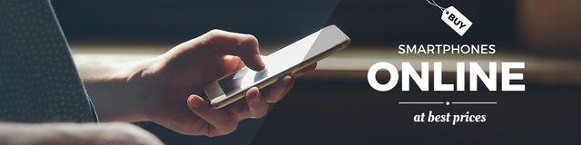 Plantilla de diseño de Online smartphone store Offer Twitter