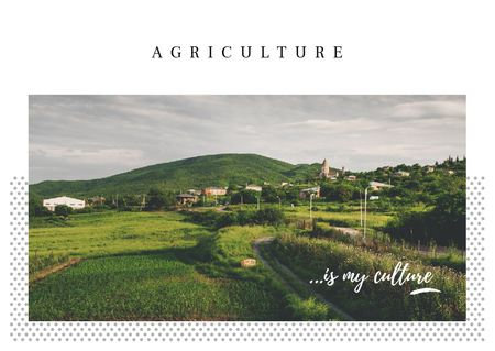 Plantilla de diseño de Small village in country landscape Postcard