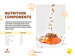 Pet Nutrition Guide with Dog Eating Its Food