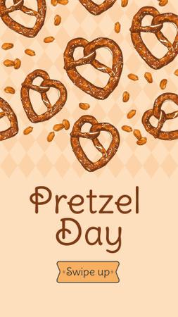 Template di design Delicious baked Pretzels Instagram Story