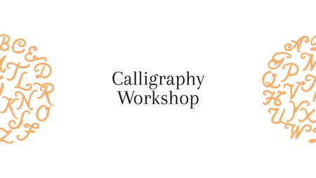 Ontwerpsjabloon van Youtube van Calligraphy workshop Announcement