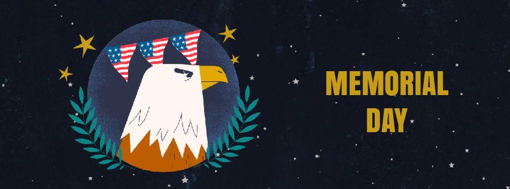 Usa Memorial Day Facebook Video Cover 851x315px Template Design