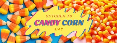 Sweet Candy Corn Day Facebook cover Tasarım Şablonu