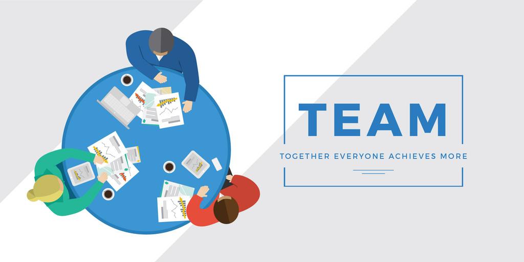 Business people working together at table — ein Design erstellen