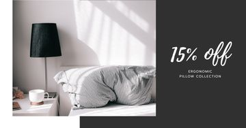 Comfortable Bedroom in grey colors for Pillows sale