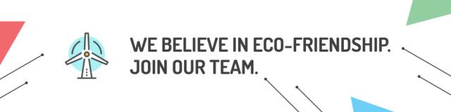Eco-friendship concept Twitter Modelo de Design