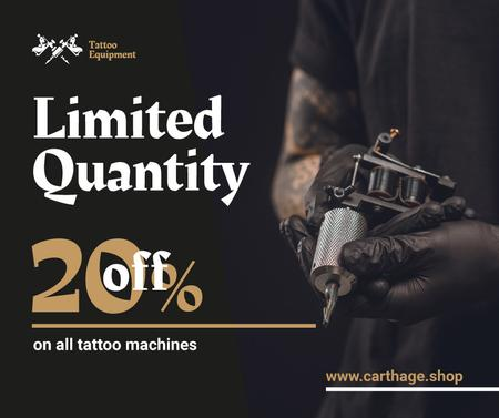 Tattoo Equipment offer Artist holding Machine Facebook – шаблон для дизайну