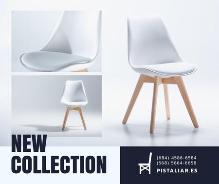 Furniture Shop Ad White Cozy Chair Facebook – шаблон для дизайну