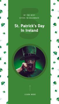 Man celebrating Saint Patrick's Day