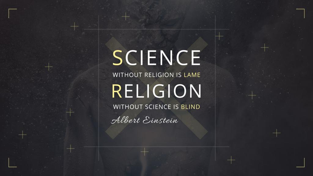 Citation about science and religion — Modelo de projeto