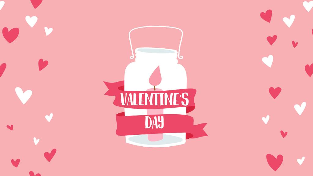Candle in jar for Valentine's Day — Créer un visuel