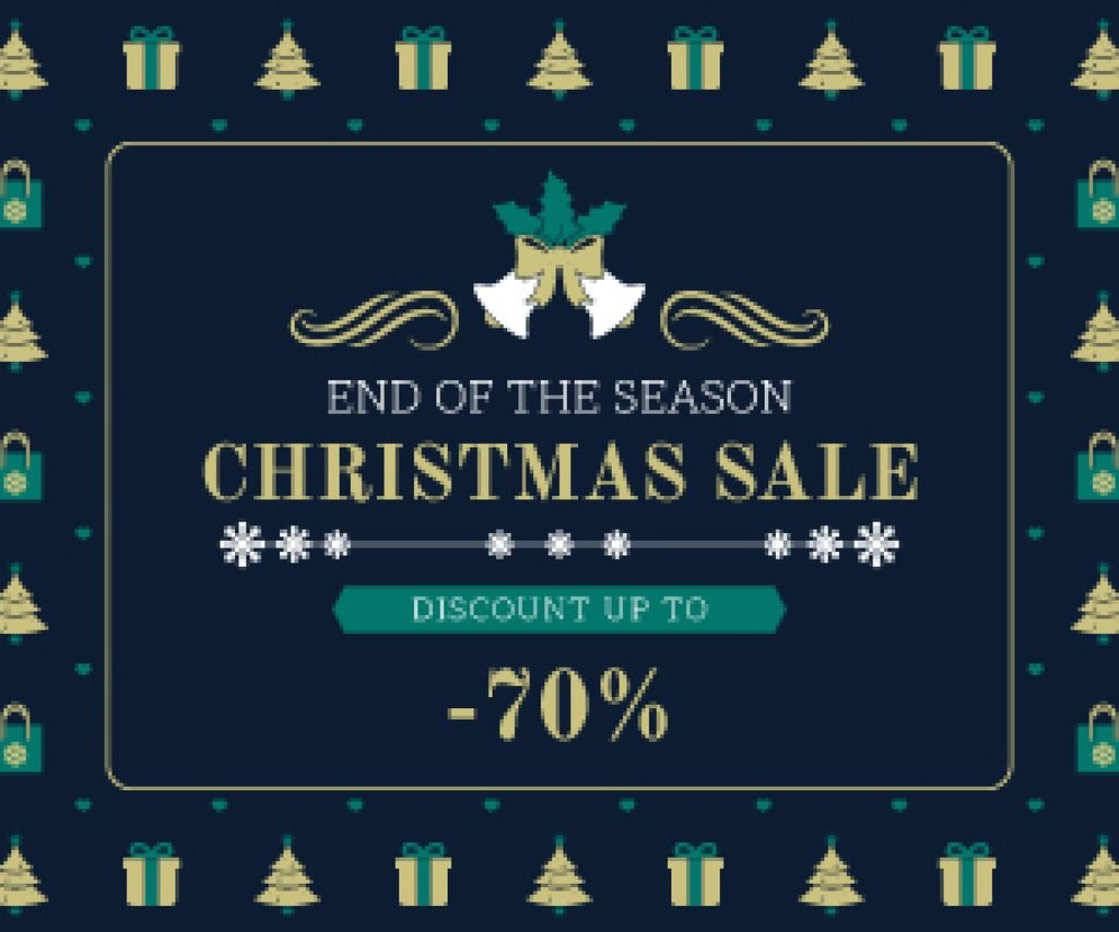 Christmas Sale Announcement Frame with Trees and Gifts — Create a Design
