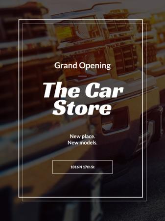 Car store grand opening announcement Poster US – шаблон для дизайну