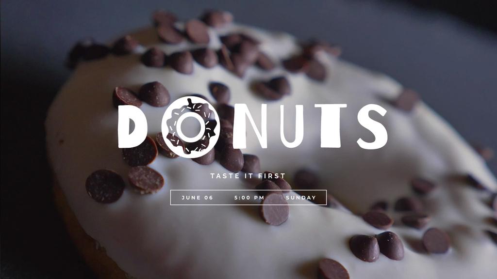 Sweet glazed doughnut — Создать дизайн