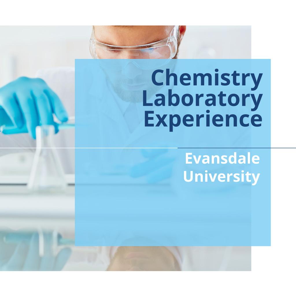 Chemistry laboratory experience poster — Créer un visuel