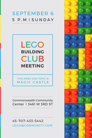 Plantilla de diseño de Lego Building Club Meeting Constructor Bricks Tumblr