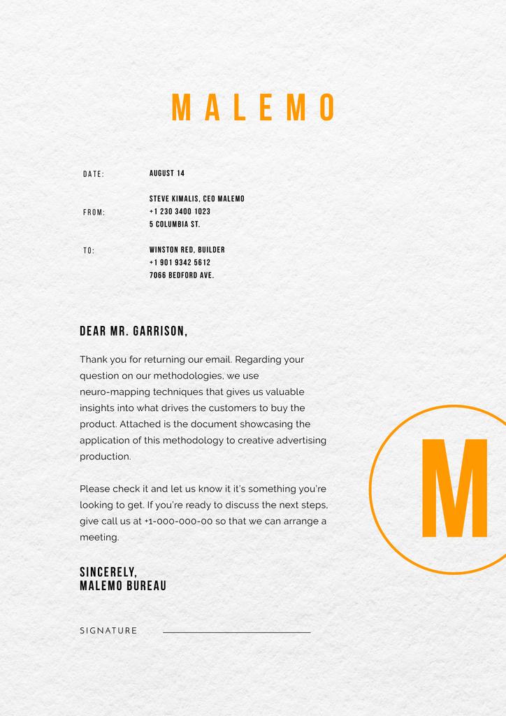 Marketing agency business response — Створити дизайн