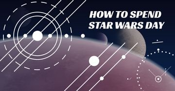 Star Wars Day Lines on space background