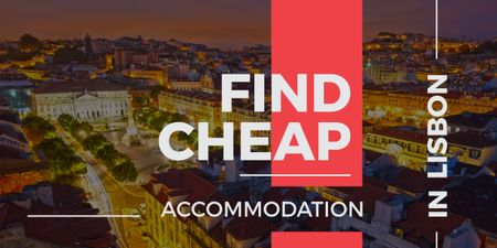 Cheap accommodation in Lisbon Offer Imageデザインテンプレート