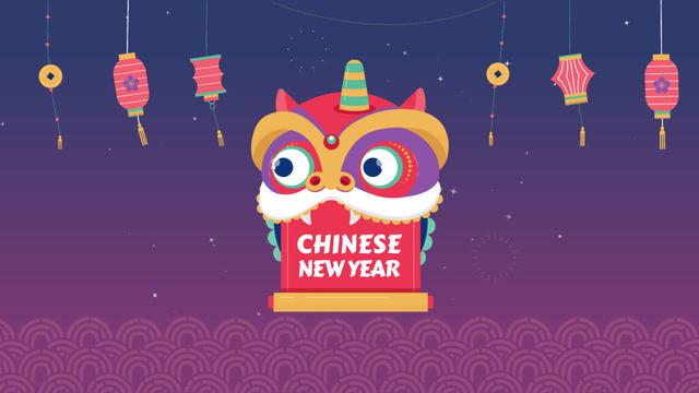 Chinese New Year dragon Full HD video Modelo de Design