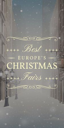 best europe's Christmas fairs banner Graphicデザインテンプレート