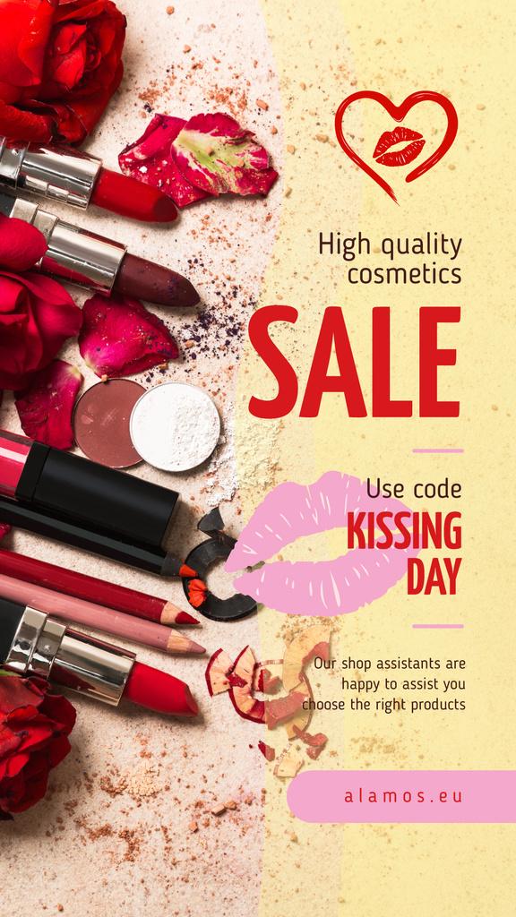 Cosmetics Set in Red — Create a Design