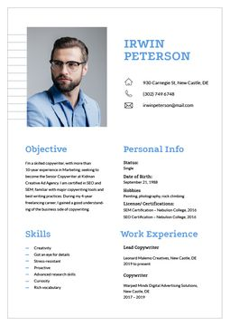 Professional copywriter skills and experience