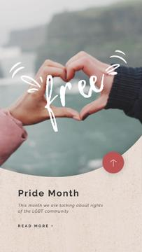 Pride Month Celebration Hands Showing Heart Sign