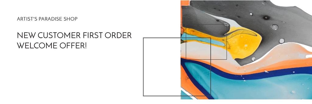 Art Painting Colorful Paint Blots — Modelo de projeto