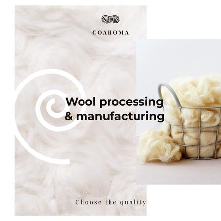 Roving wool pieces Instagram AD Design Template