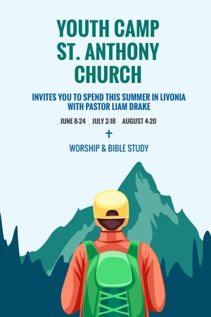 Template di design Youth religion camp of St. Anthony Church Pinterest
