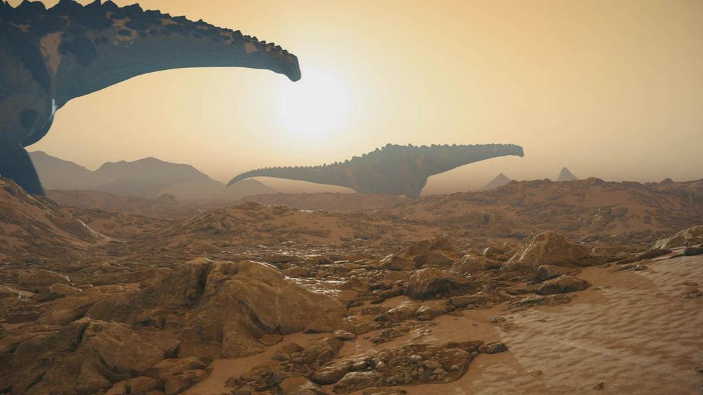 Giant Dinosaurs walking the ground — Створити дизайн