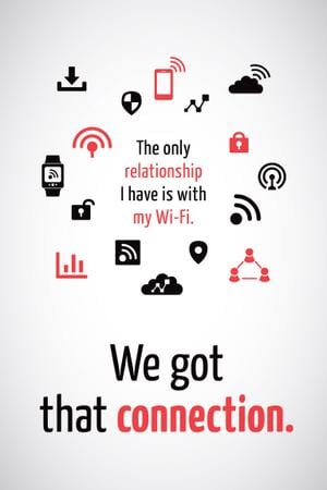 Wi-fi connection icons Pinterest Modelo de Design