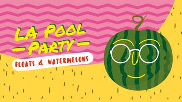 Funny watermelon in sunglasses