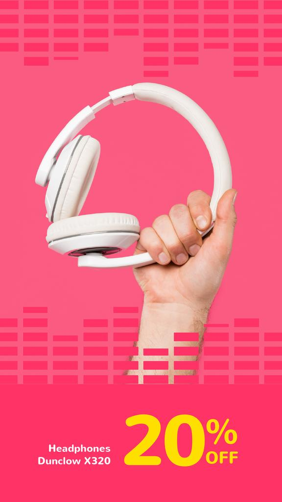 Special Sale with Man holding headphones — Створити дизайн