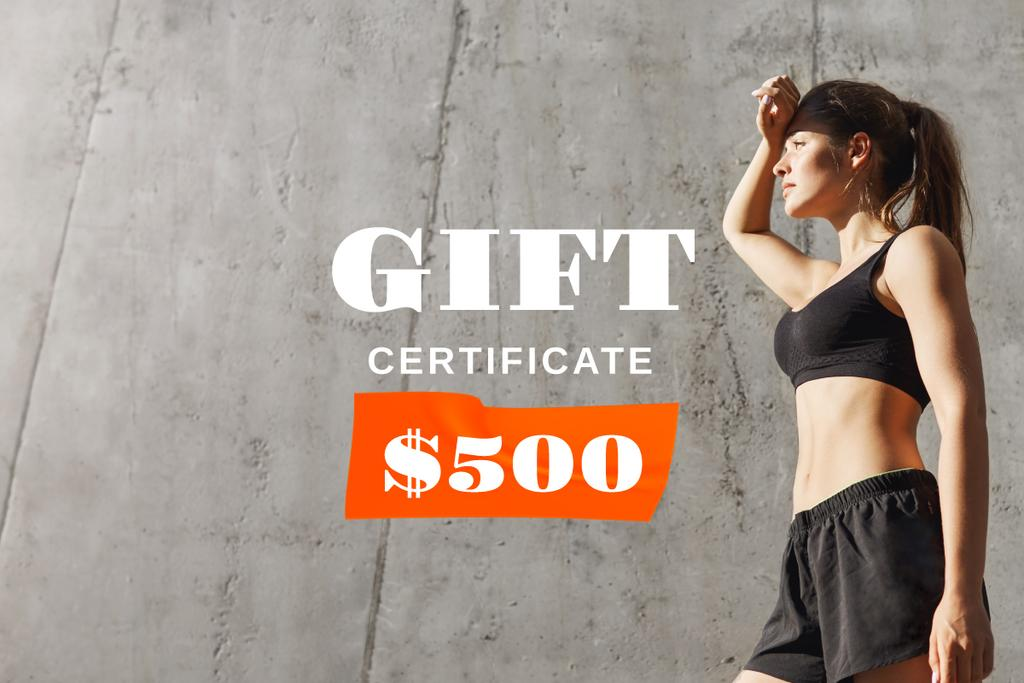 Fitness Promotion with Sportive Woman —デザインを作成する