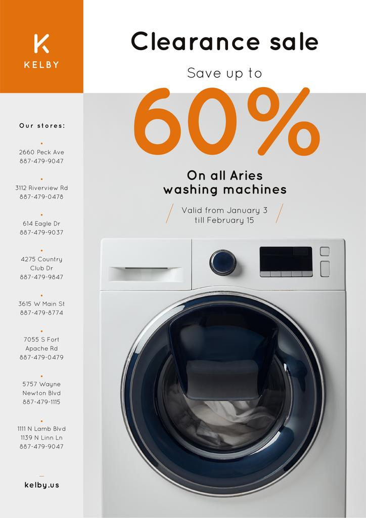 Appliances Offer with Washing Machine in White — Maak een ontwerp