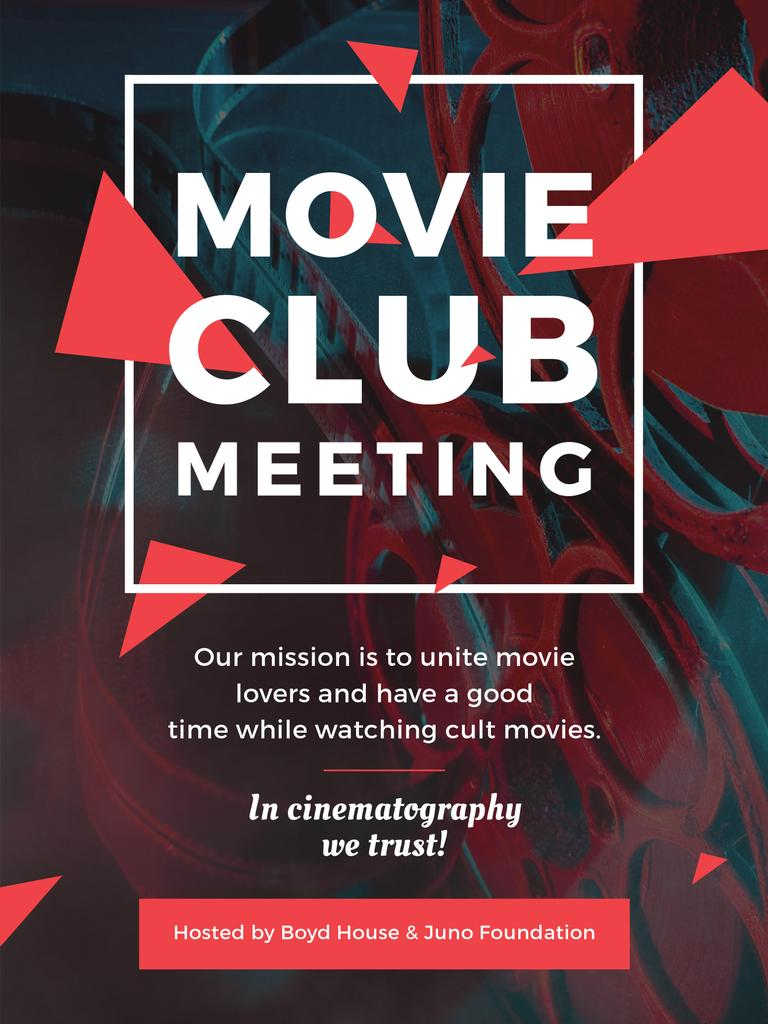 Movie Club Meeting Vintage Projector — Maak een ontwerp