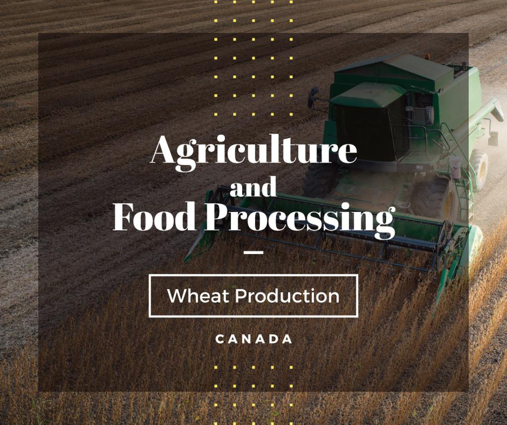 Canada Agriculture Harvester working in field — Создать дизайн