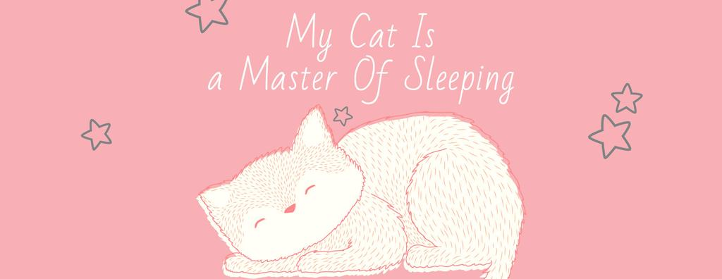 Cute Cat Sleeping in Pink — Create a Design