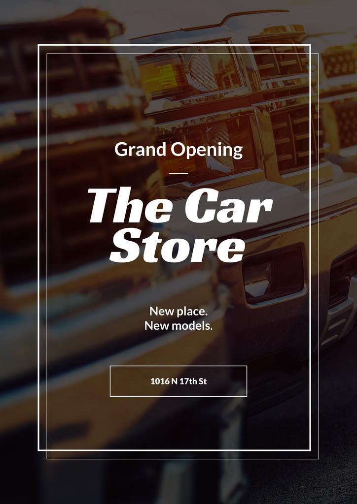 Car Store Grand Opening Announcement | Poster Template — Modelo de projeto