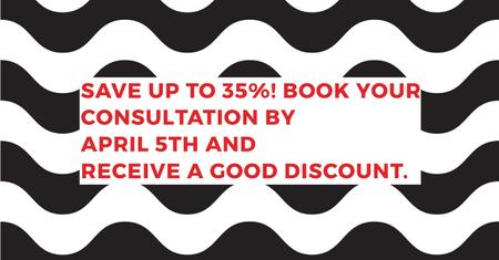 Template di design Business consultations with good discount Facebook AD