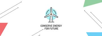 Conserve Energy Wind Turbine Icon | Tumblr Banner Template