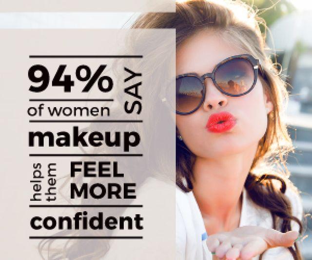 Modèle de visuel  Beautiful young woman with beauty quote - Medium Rectangle