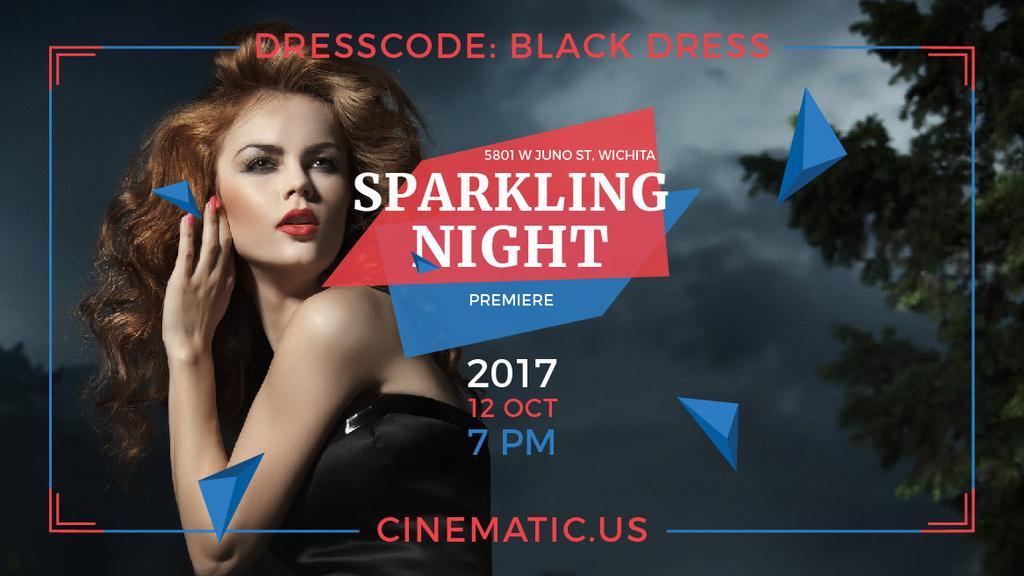Sparkling night party poster — Crea un design