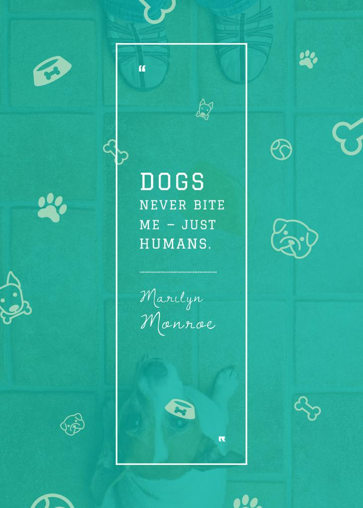 Citation about good dogs — ein Design erstellen