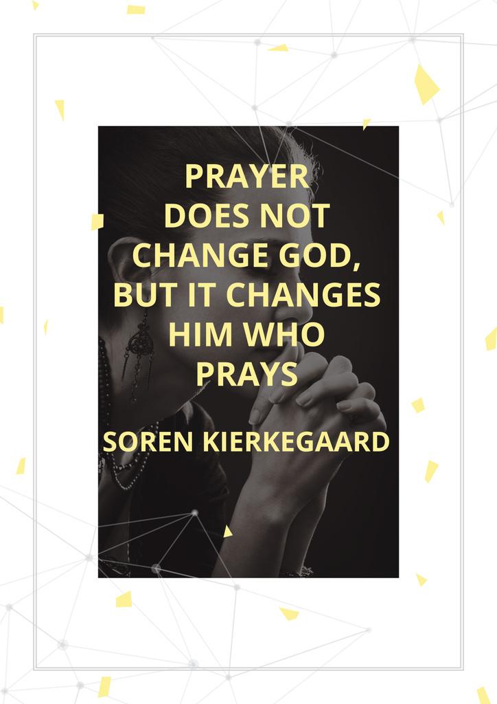 Religion citation about prayer — ein Design erstellen