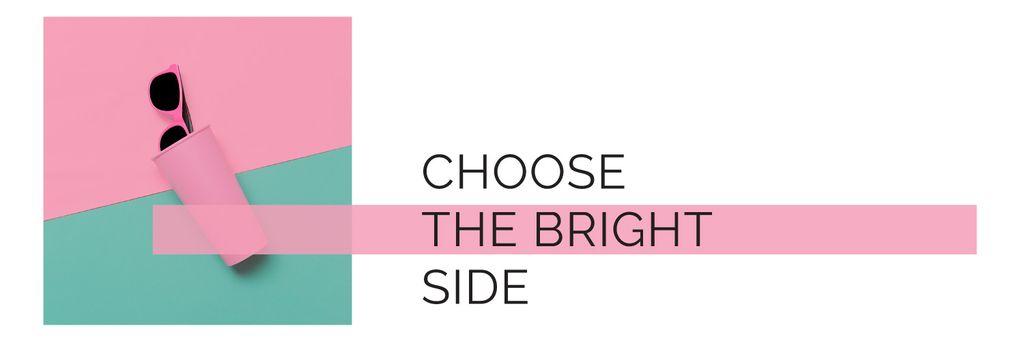 Sunglasses Sale Ad Stylish Pink Glasses — Crea un design