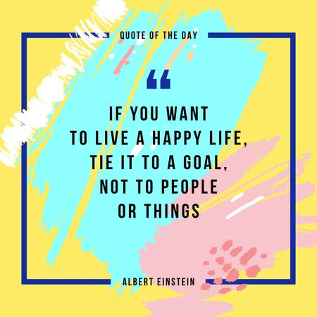 Inspirational Quote on Colorful Blots Instagramデザインテンプレート