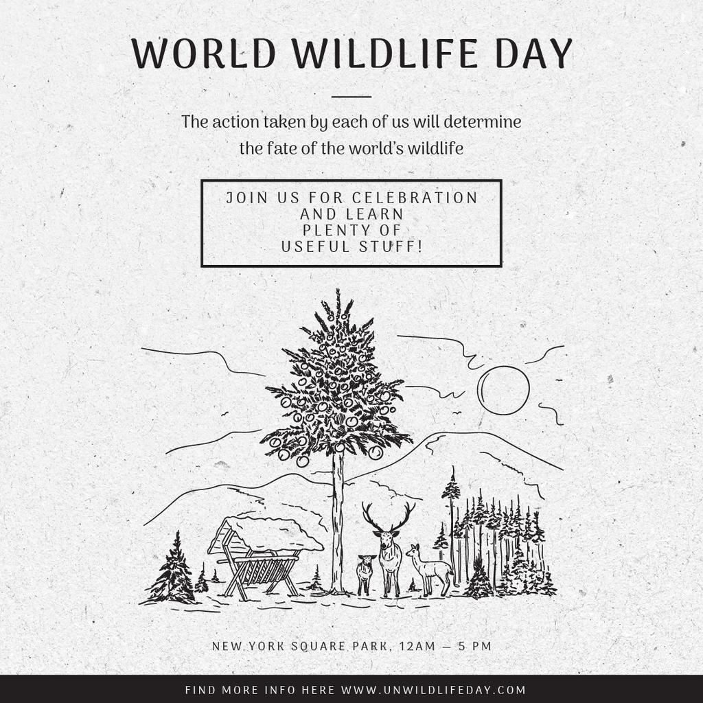 World wildlife day with Nature Environment illustration — Створити дизайн